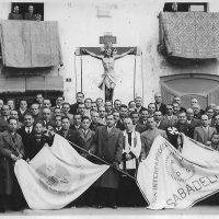 Benedicció Bandera de la Lliga de la Perseverança. Entorn 1940-1943